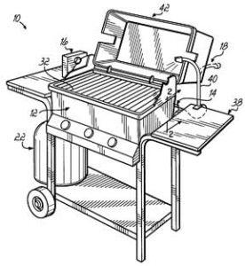 Gas BBQ grill parts.