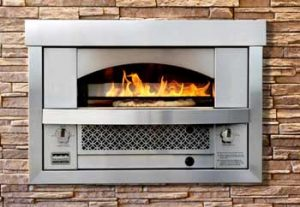 Built in pizza oven.